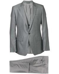 Серый шерстяной костюм-тройка от Dolce & Gabbana
