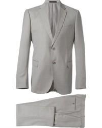 Мужской серый шерстяной костюм от Armani Collezioni