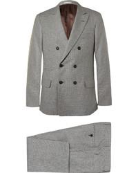 Серый шерстяной костюм от Brunello Cucinelli