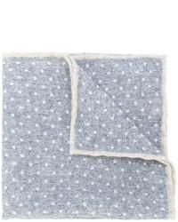 Мужской серый шерстяной нагрудный платок в горошек от Eleventy