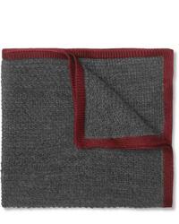 Серый шерстяной нагрудный платок от Brioni