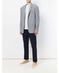 Мужской серый шерстяной пиджак в клетку от Tonello Cs