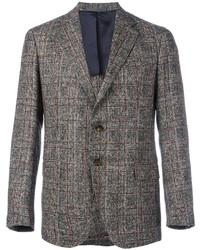 Мужской серый шерстяной пиджак в клетку от Eleventy