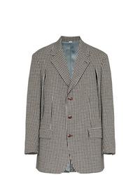 Мужской серый шерстяной пиджак в клетку от Gucci