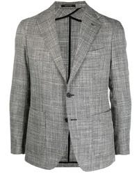 Мужской серый шерстяной пиджак в клетку от Tagliatore