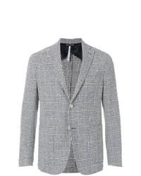 Мужской серый шерстяной пиджак в шотландскую клетку от Entre Amis