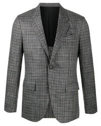 Мужской серый шерстяной пиджак в шотландскую клетку от Ermenegildo Zegna