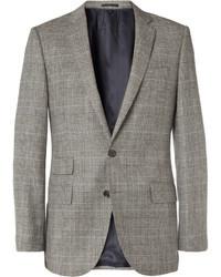 Мужской серый шерстяной пиджак в шотландскую клетку от J.Crew