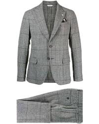 Мужской серый шерстяной пиджак в шотландскую клетку от Manuel Ritz