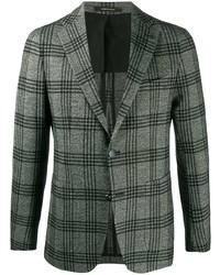 Мужской серый шерстяной пиджак в шотландскую клетку от Tagliatore