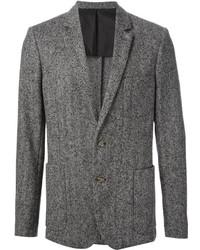 """Мужской серый шерстяной пиджак с узором """"в ёлочку"""" от Ami"""