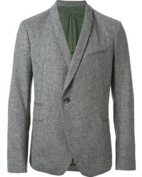 "Мужской серый шерстяной пиджак с узором ""в ёлочку"" от Haider Ackermann"