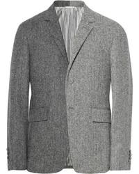 """Мужской серый шерстяной пиджак с узором """"в ёлочку"""" от Thom Browne"""