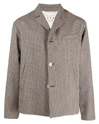 """Мужской серый шерстяной пиджак с узором """"гусиные лапки"""" от Marni"""