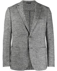 """Мужской серый шерстяной пиджак с узором """"гусиные лапки"""" от Tonello"""