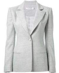 Серый шерстяной пиджак