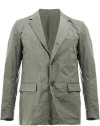 Мужской серый шерстяной пиджак от 08sircus