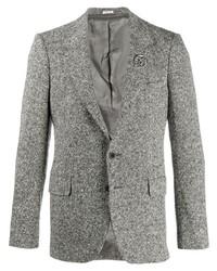 Мужской серый шерстяной пиджак от Alexander McQueen