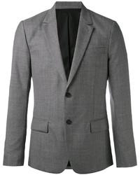 Мужской серый шерстяной пиджак от AMI Alexandre Mattiussi