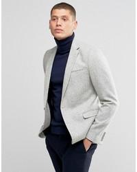 Мужской серый шерстяной пиджак от Asos