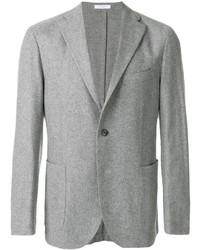 Мужской серый шерстяной пиджак от Boglioli