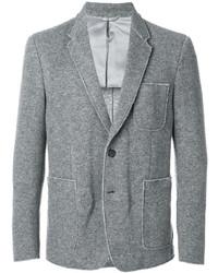Мужской серый шерстяной пиджак от Dondup