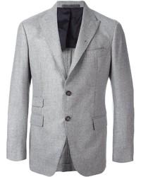 Мужской серый шерстяной пиджак от Eleventy