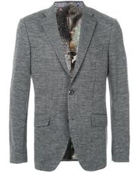 Мужской серый шерстяной пиджак от Etro