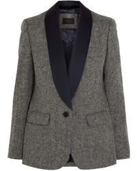 Женский серый шерстяной пиджак от J.Crew