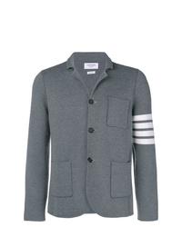 Мужской серый шерстяной пиджак от Thom Browne