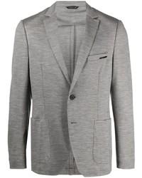 Мужской серый шерстяной пиджак от Tonello