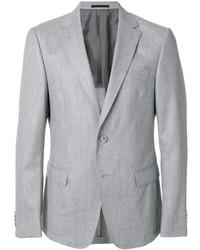 Мужской серый шерстяной пиджак от Z Zegna