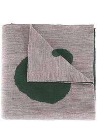Мужской серый шерстяной шарф с принтом от Kolor