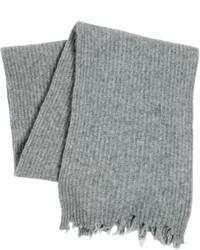 Серый шерстяной шарф