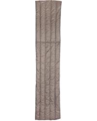 Мужской серый шерстяной шарф от Nanamica