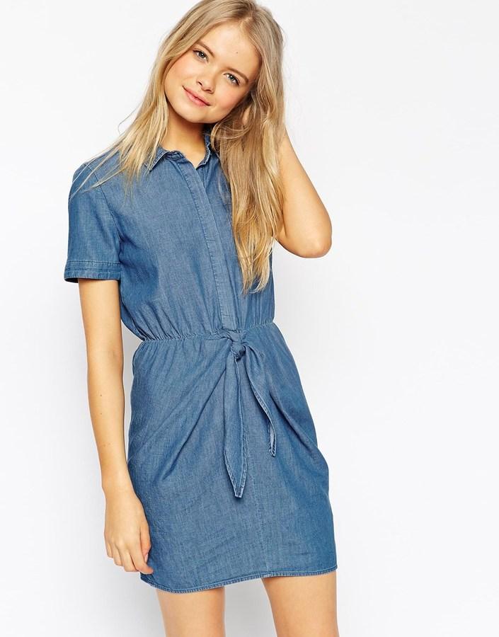 Синее платье asos