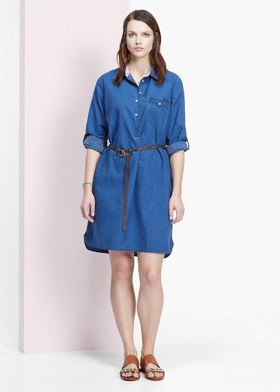 Платье mango джинсовое
