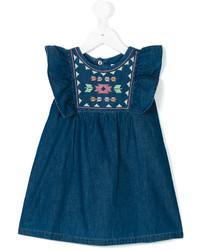 Детское синее джинсовое платье для девочке