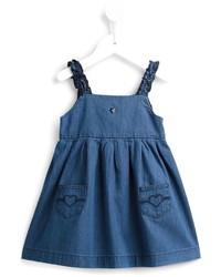 Детское синее джинсовое платье для девочке от Armani Junior