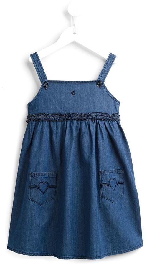 Детское синее джинсовое платье для девочек от Armani Junior