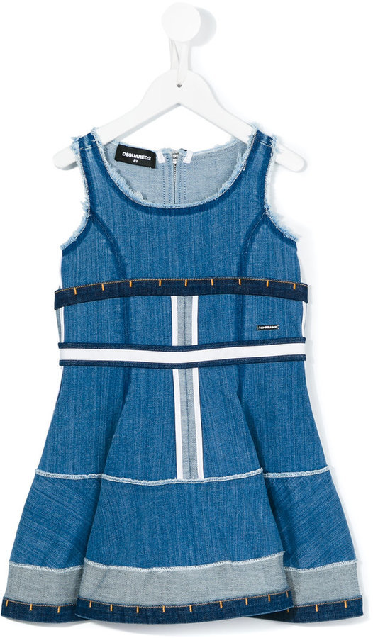 Детское синее джинсовое платье для девочек от DSQUARED2