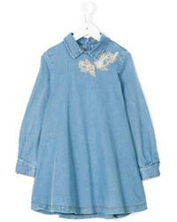 Детское синее джинсовое платье для девочке от Ermanno Scervino