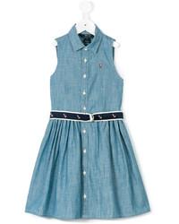 Детское синее джинсовое платье для девочке от Ralph Lauren