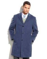 Синее длинное пальто