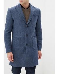 Синее длинное пальто от Bazioni
