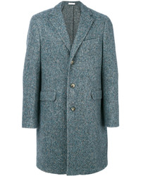 Мужское синее длинное пальто от Boglioli