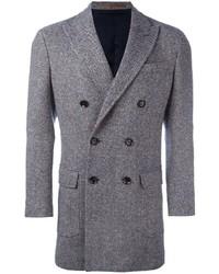 Мужское синее длинное пальто от Eleventy