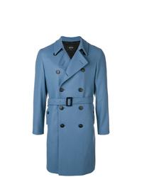 Синее длинное пальто от Hevo