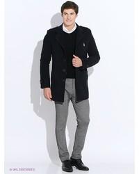 Мужское синее длинное пальто от Sainy