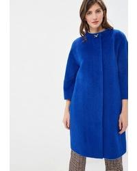 Женское синее пальто от Lea Vinci